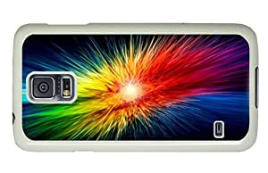 Hipster Samsung Galaxy S5 Case sparkle colors explosion PC White for Samsung S5