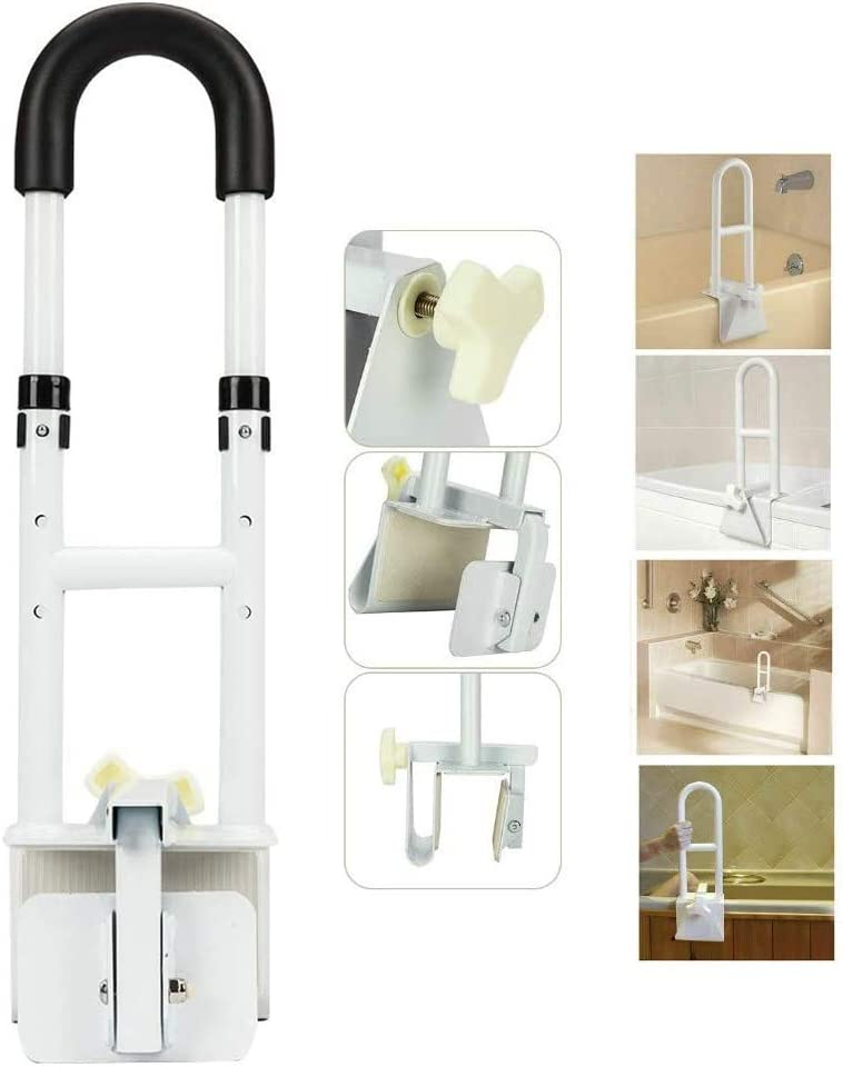 Adjustable Bathtub Safety Rails Shower Grab Bars Easy bei und aus Anti-Rutsch Standing Aid Assisting Frame für alt Mann Child Pregnant Woman Apply zu Hotel Zuhause Handrail Easy Assembiy Eisen Yayadu