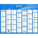 QUO VADIS Calendrier de banque 14 mois 550 x 405 mm Bleu