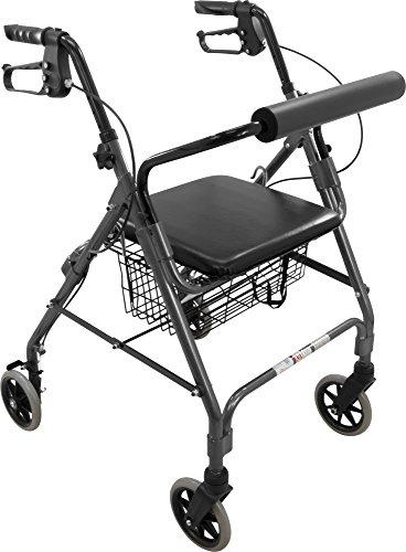 Roscoe Medical ROS-RL6GR Wheel Rollator/Rolling Walker wi...