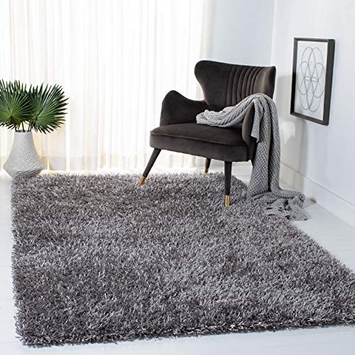 Safavieh New Orleans Shag Collection SG531 Handmade 1.6-inch Thick Area Rug