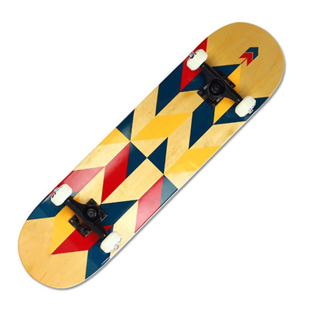 超安い プロフェッショナルメープル4輪スケートボード初心者の子供大人旅行両側スケートボード (色 : Nebula) B07L2WGSKM 格子 格子 B07L2WGSKM (色 格子, ごちそうマルシェ:7d77c0b3 --- a0267596.xsph.ru