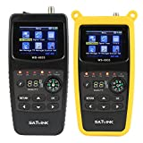 Satlink 6933 Satellite Signal Meter DVB-S/S2 HD Digital Sat Finder FTA Satellite Receiver with 2.1 Inch LCD Display Signal Detector
