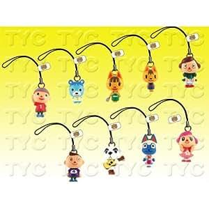 Nintendo Animal Crossing Wild World Figure Cell Phone Charms - Set of 9 Vending Machine Figures