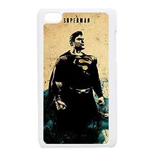 Superman 002 funda iPod Touch 4 caja funda del teléfono celular blanco cubierta de la caja funda EVAXLKNBC19675