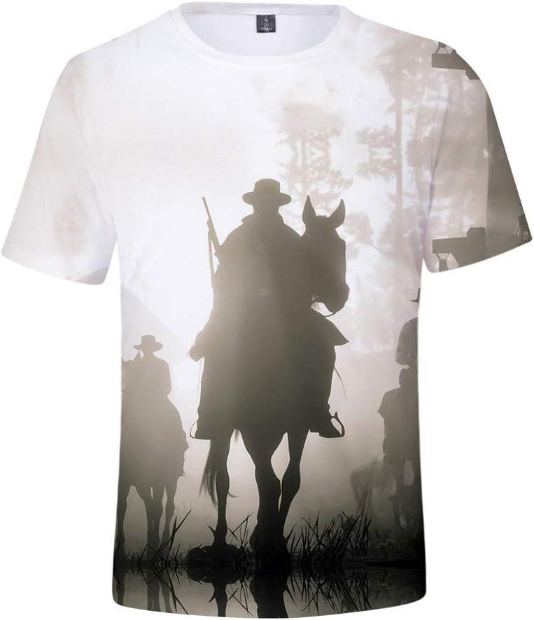 NSSZ V/êtements pour Enfants Adultes Impression num/érique T-Shirts 3DT-Shirt col Rond Manches Courtes T-Shirt Tendance Manches