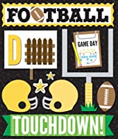 K&Company Yellow Football Sticker Medley