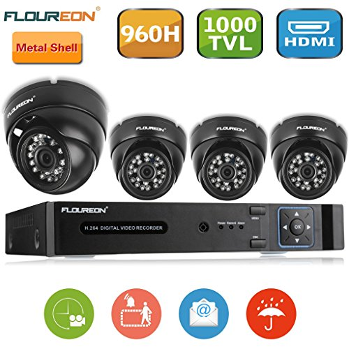 Floureon-8CH-960H-CCTV-DVR-with-4-Dome-1000TVL-Waterproof-Camera-Security-Kit-NO-HDD