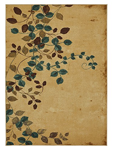 Mohawk Home Soho Plum Vine Floral Printed Area Rug, 5'x7', Beige - Leaves Rug