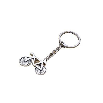 Amazon.com  Antique Silver Sport Bicycle Keychain Cycle Keychain for ... d37533c4c9