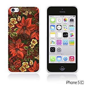 Flower Pattern Hardback For SamSung Galaxy S5 Mini Case Cover - Red Flower