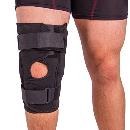 BraceAbility Obesity Knee Pain Brace | Oversized King & Queen Hinged Support Wrap for Knee Joint Pain in Overweight Men & Women (6XL)