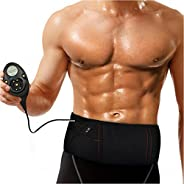 Rechargeable Muscle Stimulator Slim Massage Belt 150 Intensity Levels with 10 Programmer Abs Abdominal Muscle