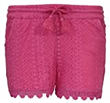 dELiAs Girls Crochet Lace Shorts with Lining, Size 7/8, Pink'