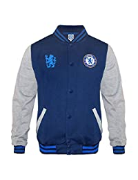 Chelsea Football Club Soccer Gift Boys Retro Varsity Baseball Jacket 8-9 Yrs MB
