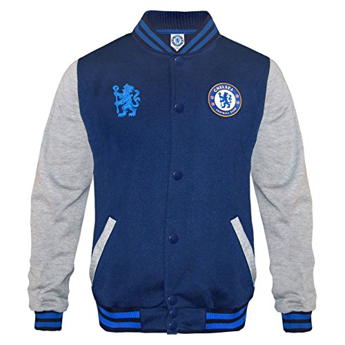 Chelsea Football Club Soccer Gift Boys Retro Varsity Baseball Jacket 10-11 Yr LB