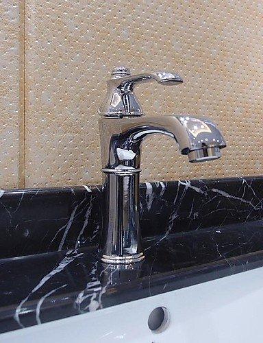 Waschbecken Wasserhahn im modernen StÖl centerset verchromt Wasserhahn