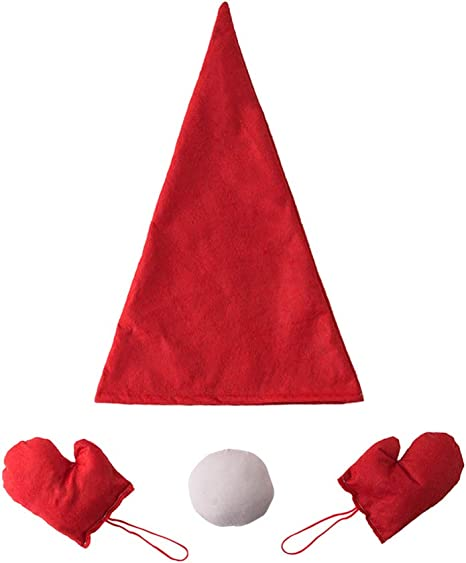 A PAIR OF SANTA HATs christmas red santa hats will fit adults and kids x 2 pack