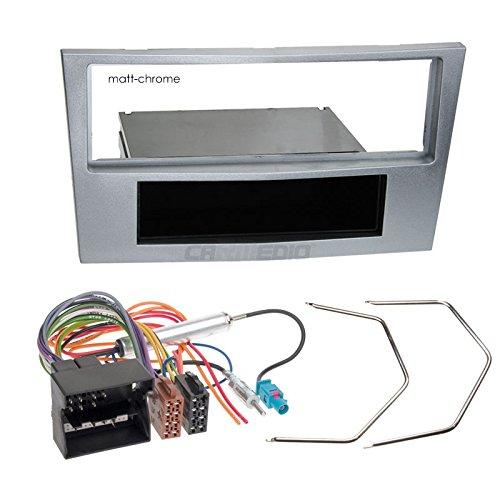 Carmedio Opel Corsa D 09-14 1-DIN Autoradio Einbauset in original Plug/&Play Qualit/ät mit Antennenadapter Radioanschlusskabel Zubeh/ör und Radioblende Einbaurahmen matt-Chrome