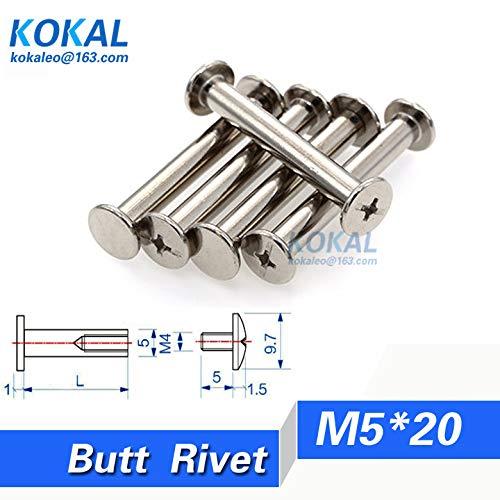 (Ochoos [DJ-M520]20pcs 520MM PHOTO ALBUM accout book butt rivets belt bolt fasteners Screw M520MM)