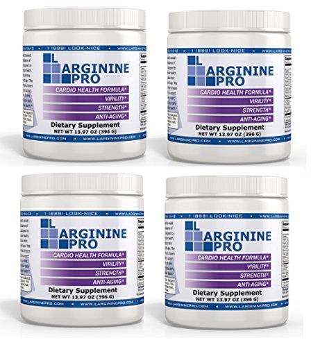 L-arginine Pro, #1 NOW L-arginine Supplement - 5,500mg of L-arginine PLUS 1,100mg L-Citrulline + Vitamins & Minerals for Cardio Health, Blood Pressure, Cholesterol, Energy (Berry, 4 Jars)