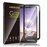 AMBBERDR [3-Pack] Screen Protector for LG Stylo 4 Tempered Glass Case-Friendly Premium HD Clarity Protective Protector with Lifetime Replacement Warranty