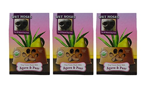 Wet Noses Agave & Pear Dog Treats, 14oz (Pack of 3)