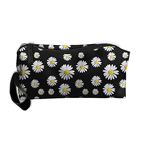CHI-M Daisy Full Print Cosmetic Bag Zipper Portable Hangbag