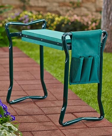 Garden Kneeling Bench With Handles and Tool Pouch by SHERRI'S HOME AND GARDEN (Image #4)