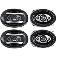 4) NEW BOSS AUDIO P694C 6x9 4-Way 800W Car Coaxial Stereo Speakers P69.4C 4 Ohm