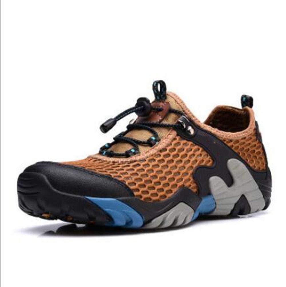 Oudan sportsClimbing Netzschuhe beiläufige Schuhe tragen atmungsaktive Netzstoffschuhe Rutschfeste Schuhe Schuhe Schuhe im Freienschuhe (Farbe   Hellbraun, Größe   46) 9725c2