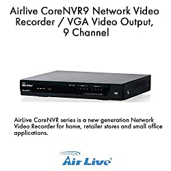 AirLive 9-Channel Network Video Recorder with HDMI, CORENVR9 (Video Recorder with HDMI)