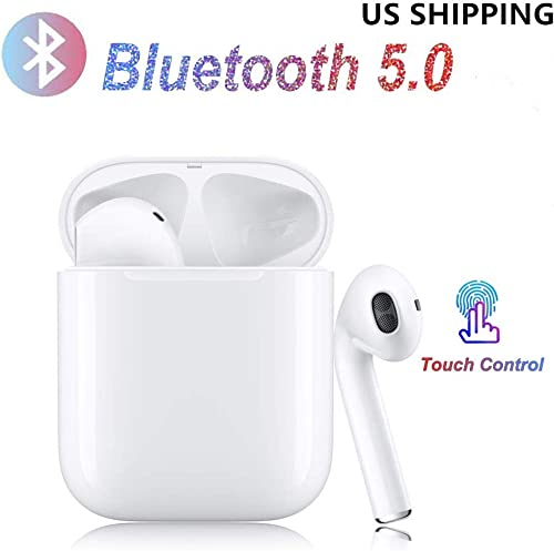 Wireless Earbuds True Wireless Earphone Bluetooth Headphones HD Stereo Sound Wires Design Built-in Mic with Charging Case for iOS Android All Mini