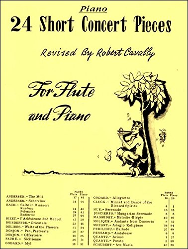 24 Short Concert Pieces for Flute - Piano Accompaniment Part ONLY
