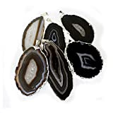 1 Black/Brown Agate Druzy Pendant Silver Plated Rock Paradise Exclusive COA AM15B27-11
