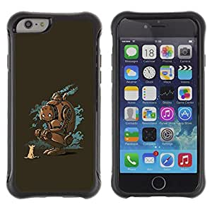 BullDog Case@ Robot Animal Dog Fox Friends Art Future Nature Rugged Hybrid Armor Slim Protection Case Cover Shell For iphone 6 6S CASE Cover ,iphone 6 4.7 case,iphone 6 cover ,Cases for iphone 6S 4.7