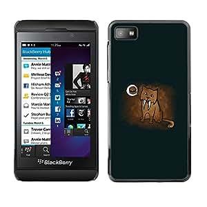 TECHCASE**Cubierta de la caja de protección la piel dura para el ** Blackberry Z10 ** Saber Tooth Tige Cave Cute Drawing Hamburger Art