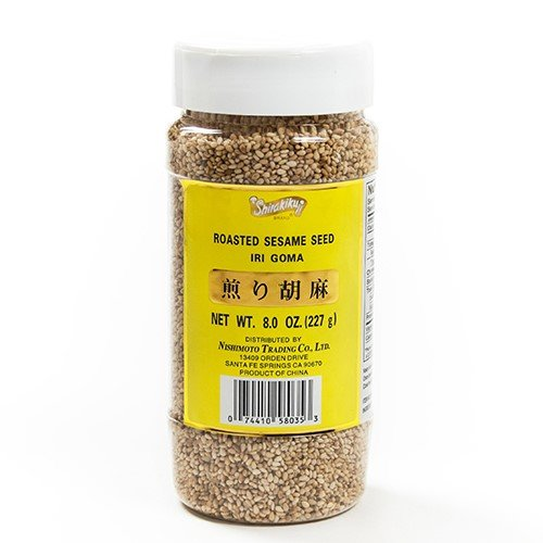 Roasted White Sesame Seeds (Iri Goma) 8 Oz by Shirakiku (8 ounce)