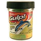 Berkley Gulp Natural Garlic Scent Trout Dough Fishing Bait, Chunky Chartreuse