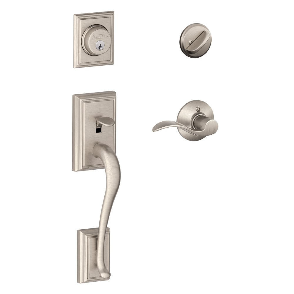 Addison Single Cylinder Handleset and Accent Lever Satin Nickel (F60 V ADD 619 ACC) - Door Handles - Amazon.com  sc 1 st  Amazon.com & Addison Single Cylinder Handleset and Accent Lever Satin Nickel ... pezcame.com