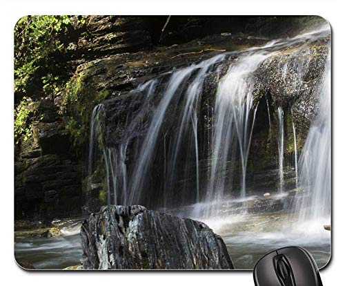 Mouse Pad - Waterfall Water Fall Flow Smooth Clear White