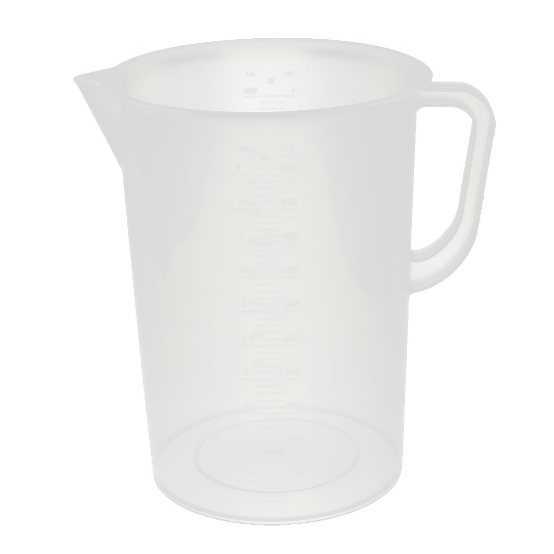 uxcell Kitchen Labotary 5000mL Plastic Measuring Cup Jug Pour Spout Container a16082200ux0228