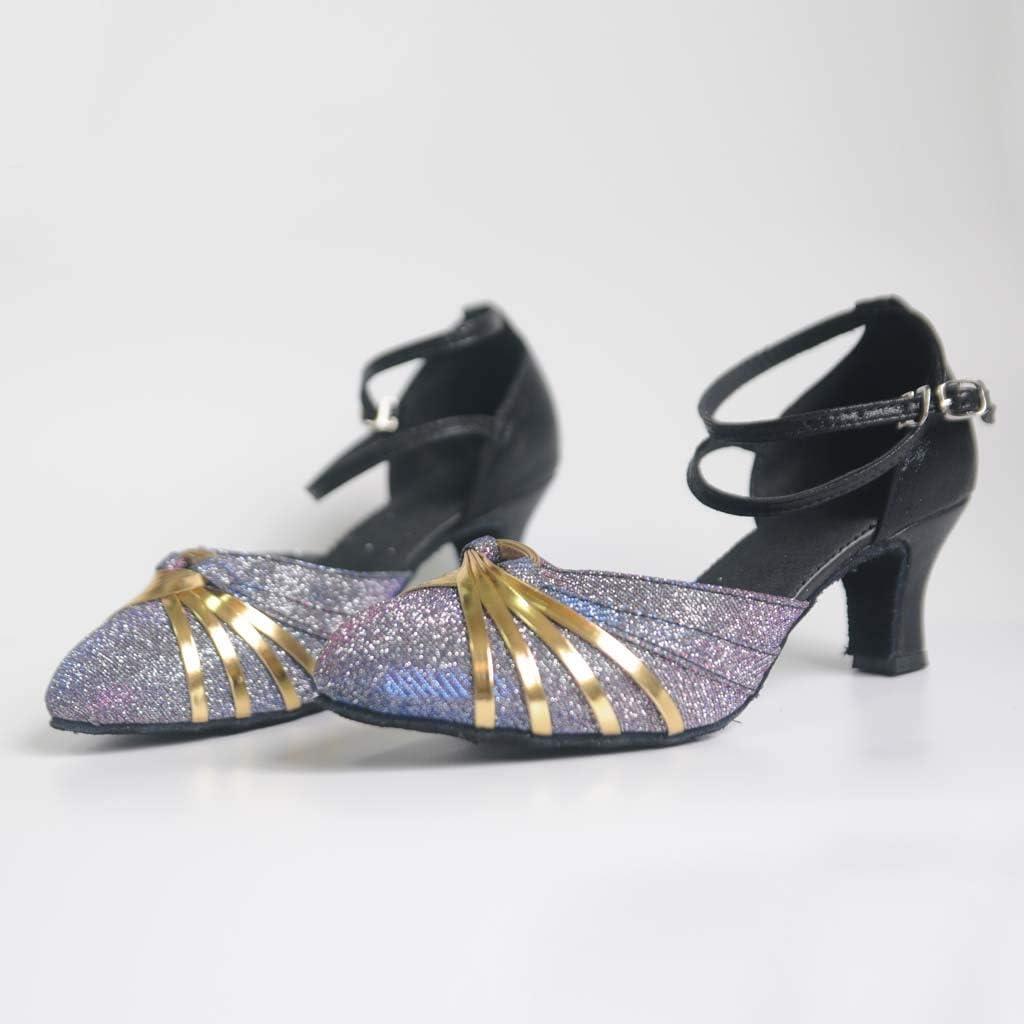 Binggong Elegant Glitzer Tanzschuhe Abendschuhe Damen Standard /& Latein Dance Schuhe Geschlossen Soziale Partei Salsa Tango Damenschuhe Ballschuhe