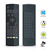 Air Mouse Remote for Android TV Box, 2.4G MX3 Pro Mini Wireless Keyboard Mouse, IR Learning Remote Contols with Backlit, Air Fly Mouse Control for Nvidia Shield, Raspberry pi3 Smart TV HTPC PS3/4