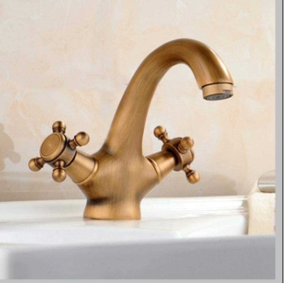 Grifos de baño Grifos de lavabo Grifos de cocina Grifo antiguo Grifo de agua fría y caliente Grifo de lavabo de bronce cepillado Grifo de baño negro Cisne Vintage Grifo de lavabo Grifo mezclador