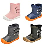 Infant Baby Boy Girl Snow Boots Rubber Sole Anti-Slip Warm Winter Prewalker Waterproof Toddler Shoes