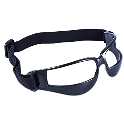 25953ff595eb Asport Protective Dribble Goggles Sports Training Aid for Football  Basketball Volleyball Hockey Paintball Lacrosse (Black