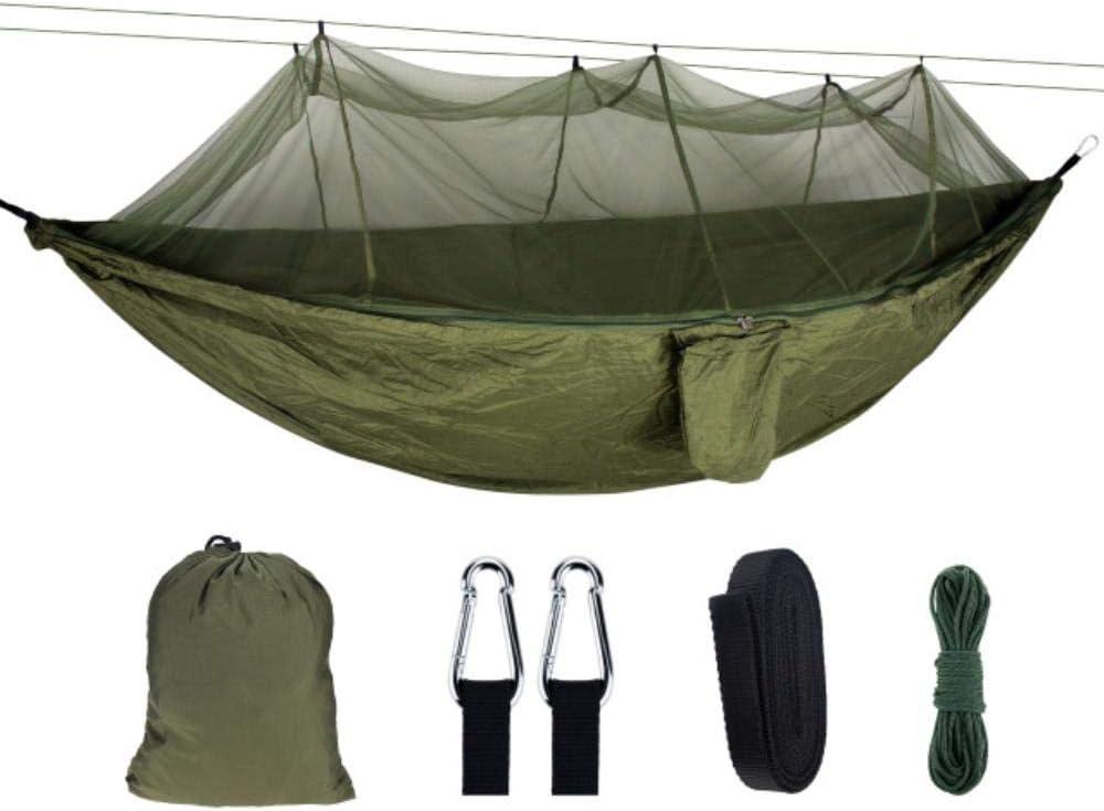 PLXX 1-2 Hamaca para Personas con mosquitera Columpio Muebles de Pesca portátiles Sofá de jardín al Aire Libre Hamaca Paracaídas Sueño, Estilo 10