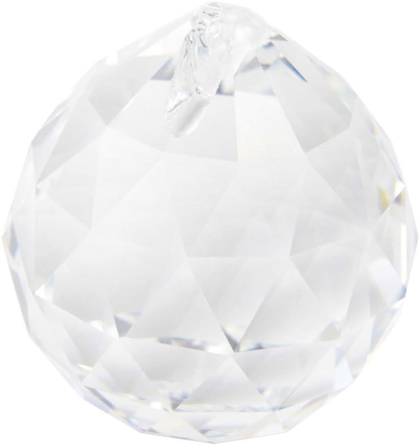 Xuniu 1 Pieces Clear Crystal Feng Shui Lamp Ball Prism Rainbow Sun Catcher Wedding Decor 30mm