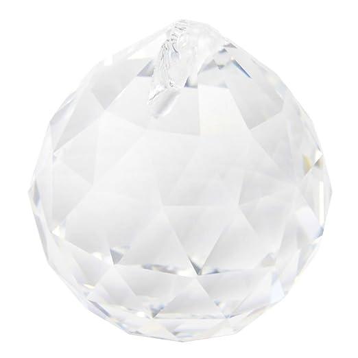 Leegoaltm 40mm fashion decoration artificial crystal ball prism leegoaltm 40mm fashion decoration artificial crystal ball prism pendanttransparent white aloadofball Images